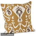 Ikat Design Jute 20x20-inch Throw Pillow