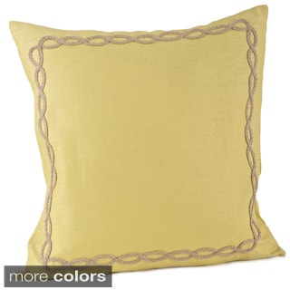 Jute Design on Linen 20x20-inch Down Fill Throw Pillow
