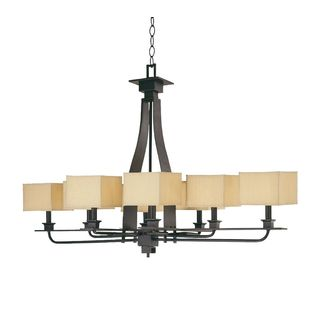 8-light Mirabelle Black and White Chandelier