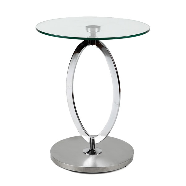 round chrome glass side table 15769642 shopping great deals on coffee sofa. Black Bedroom Furniture Sets. Home Design Ideas
