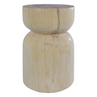 Natural Solid Suar Wood Stool With Maple Finish