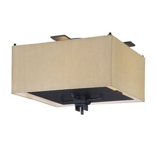 2-light Black and Gold Mirabelle Flush Mount