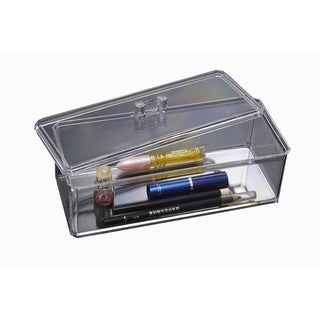 Clear Acrylic Cosmetic Organizer with Lid