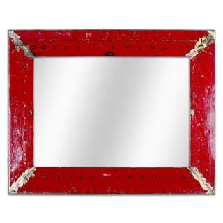 Rectangular Mirror Made From Recycled Oil Drums