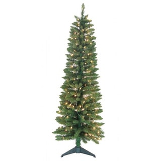 5-foot Pre-Lit Green Pencil Tree