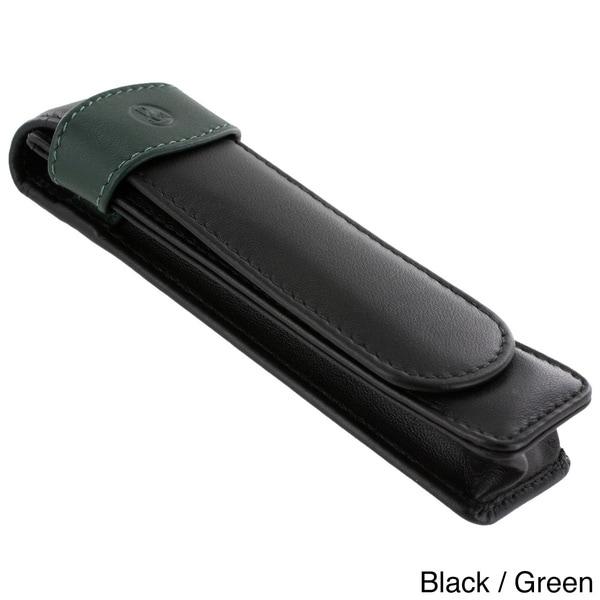 Pelikan Black/ Green Leather Single Pen Case