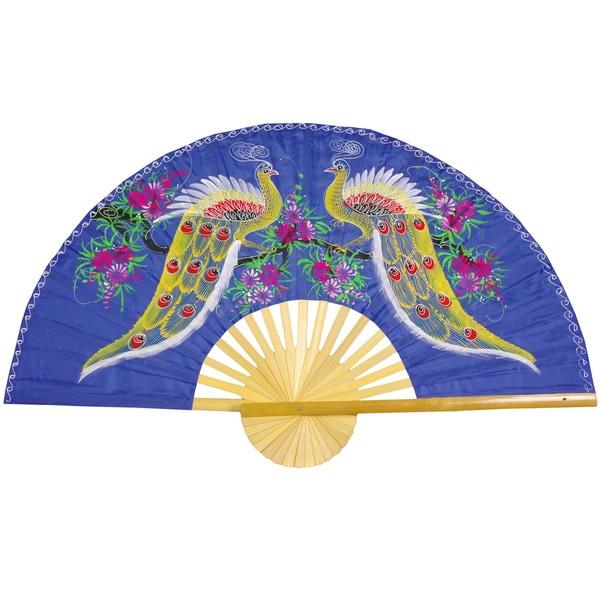 Proud Peacocks Wall Fan (China)