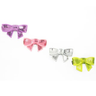 Sequin Hair Bow Set (Set of 4)
