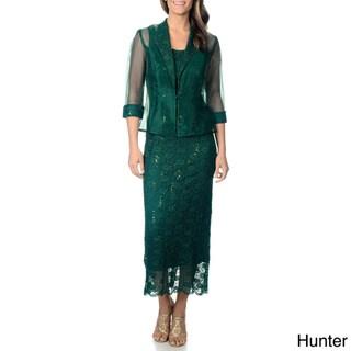 R&M Richards Women's 2pc Long Jacket Dress