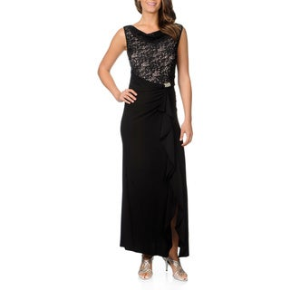R&M Richards Women's Sequin Lace Top Gown