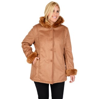 Excelled Plus Shearling Coat with Hood