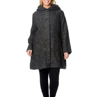 Excelled Plus Coat with oversize shawl Collar