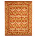 Hand-Tufted Morris Orange Wool Rug (7'9 x 9'9)