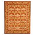 Hand-Tufted Morris Orange Wool Rug (7'9 x 9'9)