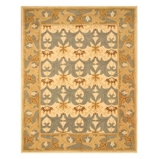 Hand-tufted Kent Ivory Wool Rug (7'9 x 9'9)