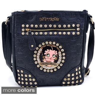 Etched Monogram Betty Boop Messenger Bag