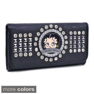Betty Boop Rhinestone Decor Checkbook Wallet