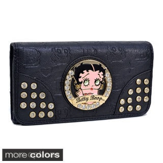 Betty Boop Rhinestone Checkbook Wallet