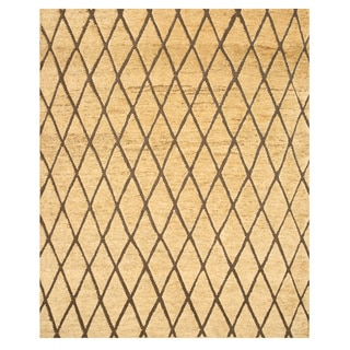 Hand-knotted Morocco Ivory Jute Rug (8' x 10')