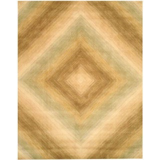 EORC Hand-tufted Wool Ivory Tufetd Sands Rug (5' x 8')