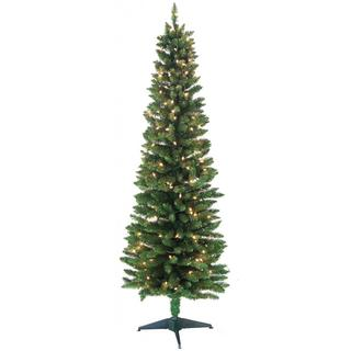 6-foot 320-tip Pre-lit Pencil Green Tree