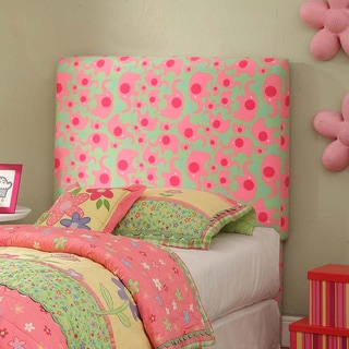 Twin Pink/ Green Elephant Dot Headboard