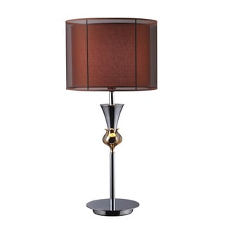 Dimond Lighting Dunbar 1-light Chrome/ Gold Table Lamp