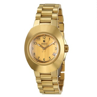 Rado Men's 'Original' Yellow/Goldtone Black-dial PVD-coated Stainless Steel Automatic Watch