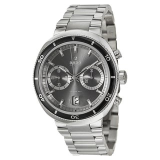 Rado Men's 'D-Star' Stainless Steel Chronograph Watch