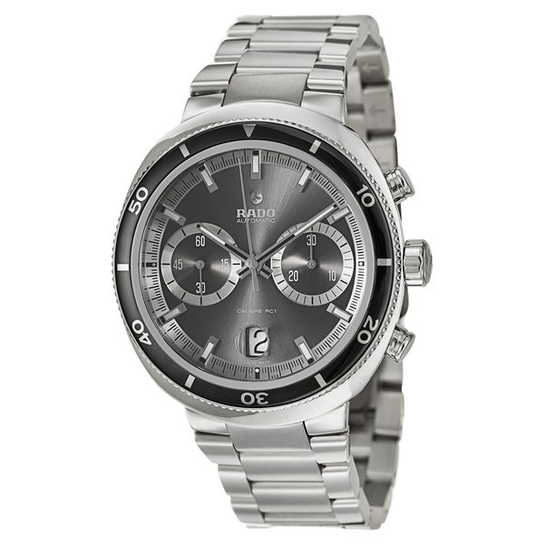 Rado Men's 'D-Star' Stainless Steel Scratch-resistant Chronograph Watch
