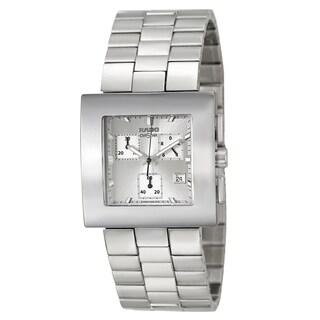 Rado Women's 'Diastar Chronograph' Stainless Steel Silver-tone Chronograph Watch