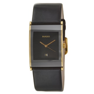 Rado Men's 'Integral' Yellow/ Goldtone PVD Coated Watch