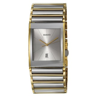 Rado Men's 'Integral' Yellow/ Goldtone PVD Coated Quartz Watch