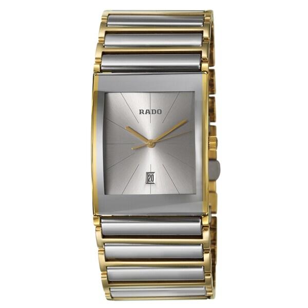Rado Men's 'Integral' Yellow/ Goldtone PVD Coated Quartz Watch