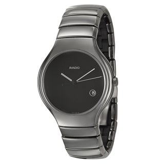 Rado Men's 'Rado True' Ceramic Quartz Watch