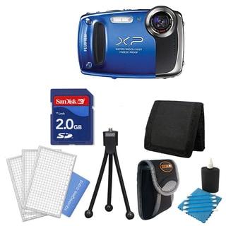 Fujifilm FinePix XP55 14MP Blue Digital Camera with Deluxe Bonus Accessories Kit (Refurbished)