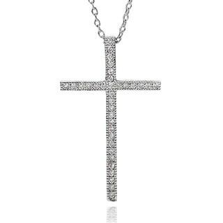 Journee Collection Cubic Zirconia Cross Necklace