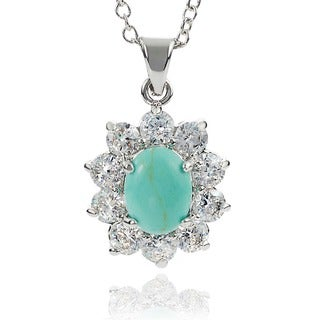 Journee Collection Turquoise Cubic Zirconia Necklace