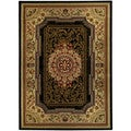 Medallion Traditional Black 3 feet 3 inches x 4 feet 7 inch Area Rug Ephesus Collection