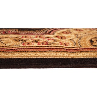 Medallion Traditional Black Area Rug (4'10 x 6'10)