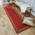 French Border Red Runner Rug (1'10 x 6'10)