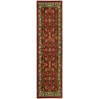 Ephesus Collection Floral Garden Traditional Red Runner Rug (1'10 x 6'10)