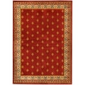 French Border Red Area Rug (4'10 x 6'10)