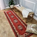 Medallion Traditional Red Runner Rug (1'10 x 6'10)