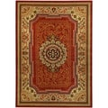 Medallion Traditional Red Area Rug (3'3 x 4'7)