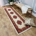 Medallion Traditional Ivory Runner Rug (1'10 x 6'10)