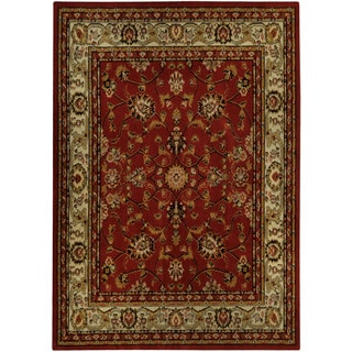 "Floral Garden Traditional Red 3'3"" x 4'7"" Area Rug Ephesus Collection"