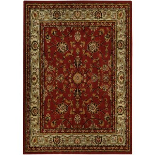 Floral Garden Traditional Red Area Rug (4'10 x 6'10)