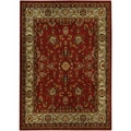 Floral Garden Traditional Red Area Rug (8'2 x 9'10)