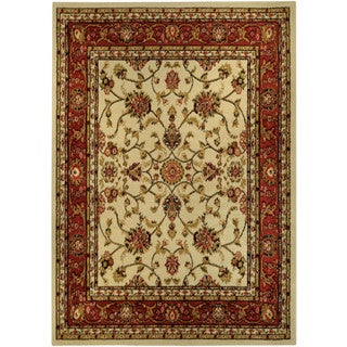 Floral Garden Traditional Ivory Area Rug (4'10 x 6'10)